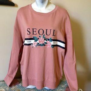 DIVIDED (H&M) Dusty Rose Seoul light sweatshirt M